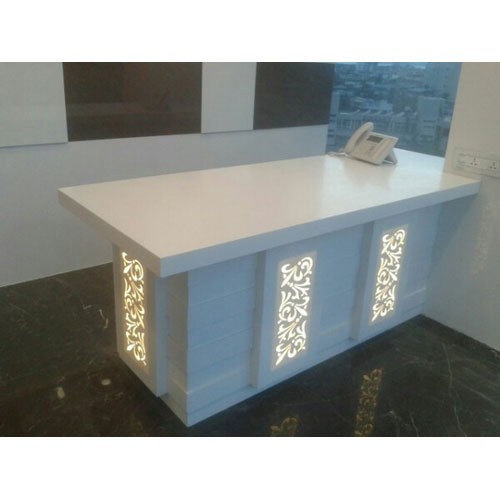 White Office Table Korean Solid Surface Rs 70000 Piece