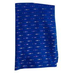 Blue Cotton Ikat Fabric, GSM: 140 - 150