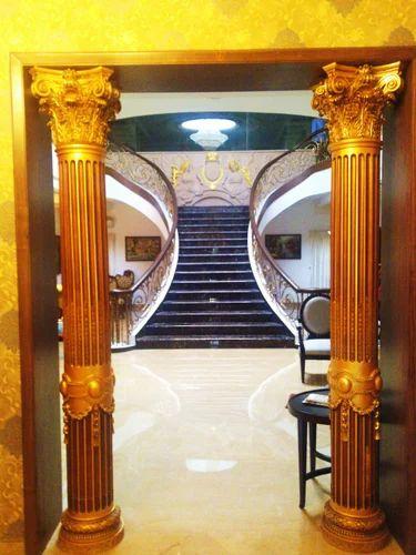 Gilding Pillar Interior Decoration