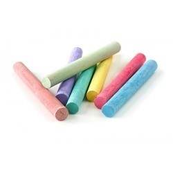 Branded Multi-colored kores Dustless Chalk Pieces, Chalk pieces in box: 50