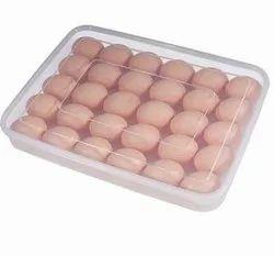 Transparent Storage Box Freezer Eggs Box-24 Egg Tray