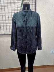 Ladies Front Tie Printed Shirt