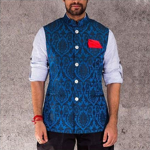 fc28fd0b0f Blue Mens Designer Nehru Jacket, Size: 36 And 40, Rs 350 /piece | ID ...
