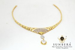 CZ Gold Necklace