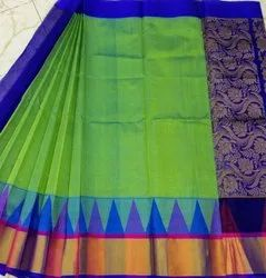Temple Border  Kuppadam Silk Cotton Saree