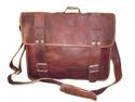 Rustic Vintage Leather Laptop Shoulder Bag