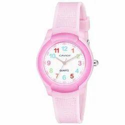 Caviot Pink Round Analog Sports Watch for Girls - CK006