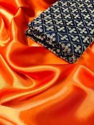 Satin Silk Saree With Full Work Blouse