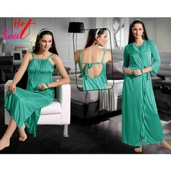 Ladies Two Piece Green Nighty
