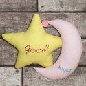 Moon & Star Shape Cushion Made In Fine Cotton