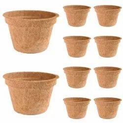 Coir Garden 6 Inch Rib Coir Pot