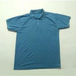 Cotton Plain Mens Fashionable Polo Neck T-Shirt