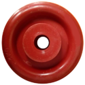 Red Polymer Trolley Wheel