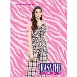 Cotton Printed Ladies Trendy Night Suit, Packaging Type: Packet
