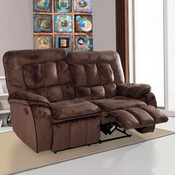 2 Seater Augusta Fabric Chocolate Color Recliner Sofa