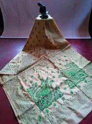 Silk Kantha Stitch Saree
