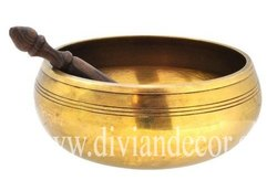 Brass Round Singing Bowl
