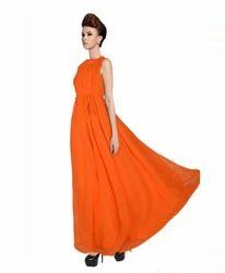 Flared Halter Dress