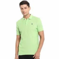 Cotton Plain Mens Polo T Shirt