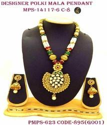 Polki pendant set polki jhumka set manufacturers suppliers in india designer polki pendant set aloadofball Images