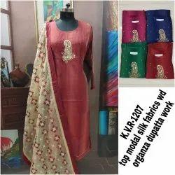 Designer Ladies Silk Suit