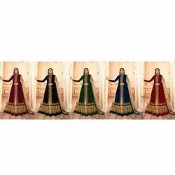 Wedding Wear Heavy Net With Heavy Embroidered Worked Lehenga Style Suit
