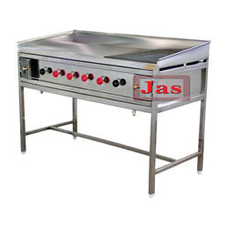 Jas Steel Chapatti & Dosa Hot Plate With Puffing Grill for Commercial Kitchen