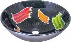 Printed Glass Wash Bowl