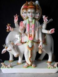 Marble God Tridev Statue
