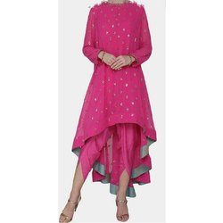 Pink Embroidered Ladies Fancy Dress
