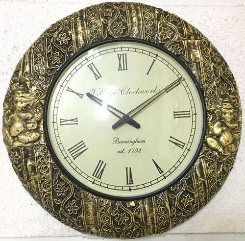 Antique Wall Clocks Wooden Carving Manufacturer From Jodhpur
