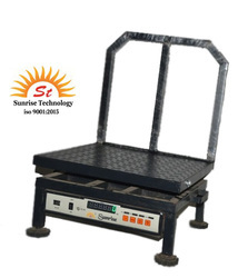 Sunrise CHICKEN SCALE Chequered Mobile Platform Scale 300X300 60 kg, Size: 300x300 Mm, for Weighing
