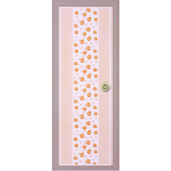 Designer Floral Print PVC Door