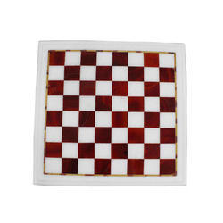 Red Marble Chess Set
