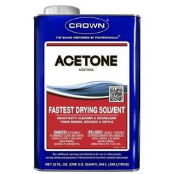 Acetone Fastest Drying Solvent