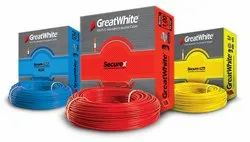 Great White Wires & Cables, Nominal Voltage: 440, Wire Size: 90 Meter
