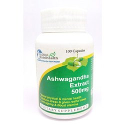 Global Nutrihealth Ashwagandha Extract 500 mg Capsules