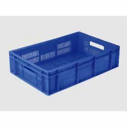 Rectangular 22L Plastic Industrial Crate, Capacity: 22 L