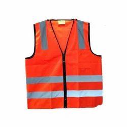 Polyester And Nylon Reflective Jacket, Size: Free Size