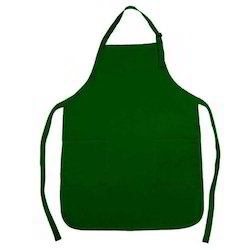 Green Plain Cooking Apron