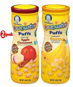 Gerber Graduates Puffs Cereal Snacks Banana And Apple