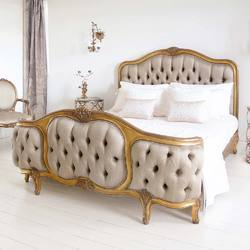 Masa Gaia Antique Gold French Rococo King Bed