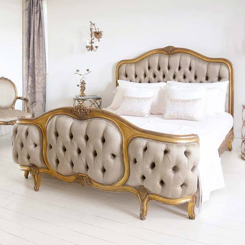 Fantastic Bedroom Beds Antique Gold French Rococo King Bed Beutiful Home Inspiration Ommitmahrainfo