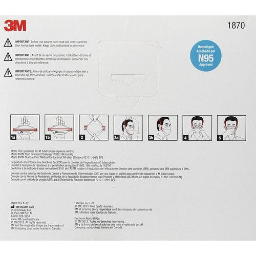 3m Respirator Dust Swine Protection Flu 1870 Particulate