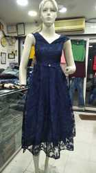 Ladies Blue Short Gown