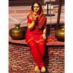 Punjabi Sitting Lady Statue