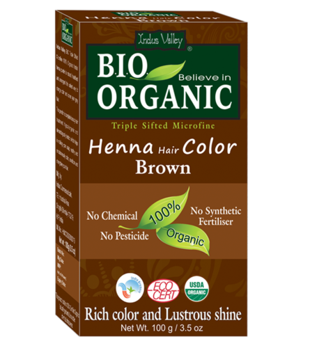 Organic Certified Henna Hair Color Brown Bio Organic Henna Hair