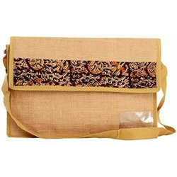 Embroidery Jute Sling Bag