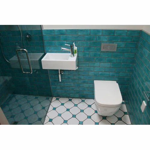 Ceramic Tiles Marble Washroom Tile, Size: Medium (6 Inch X ...
