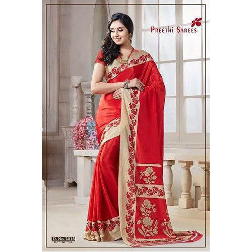 7af693bb9 Preethi Sarees Red And Golden Fancy Turkey Saree